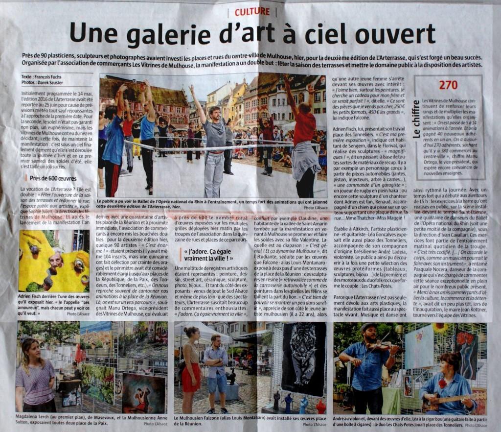 L'Alsace 26 Juin 2016